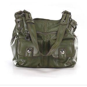 Tyler Rodan l Green Faux Leather Hobo Bag
